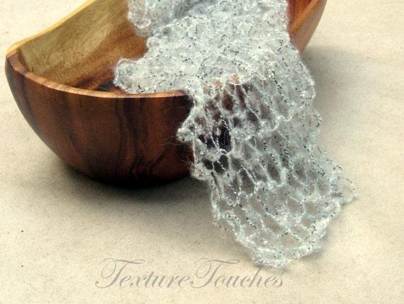 Salt & Pepper gossamer veil photo prop