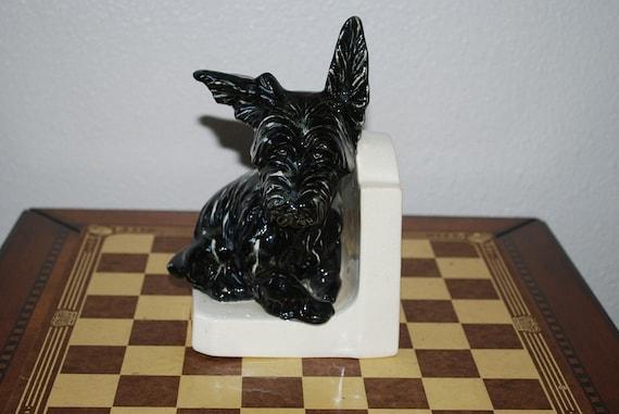 Antique Ceramic Scottie Dog Book End