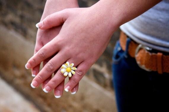 Repurposed Vintage Daisy Ring