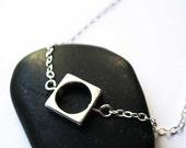 Simple Silver Necklace - Geometric, Metal Jewelry, Contemporary Jewellery, Modern, Minimalist