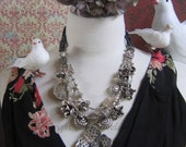 Queens Ransom -  Silver and Black onyx Necklace