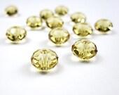 SWAROVSKI inspired crystal glass beads jewelry making supplies donut spacer rondelle 8x6 mm Citrine color 22 beads sale bargain-DESTASH 09