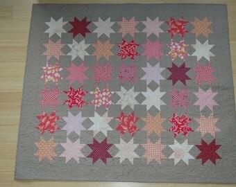 Pink Stars Crib Quilt