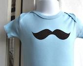 Baby bodysuit onesie Mustache Newborn  LAST ONE