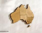 Australia Map Puzzle - Birch Plywood