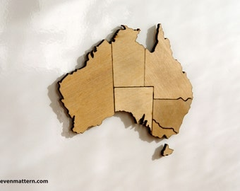 Australia Map Puzzle - Birch Plywood