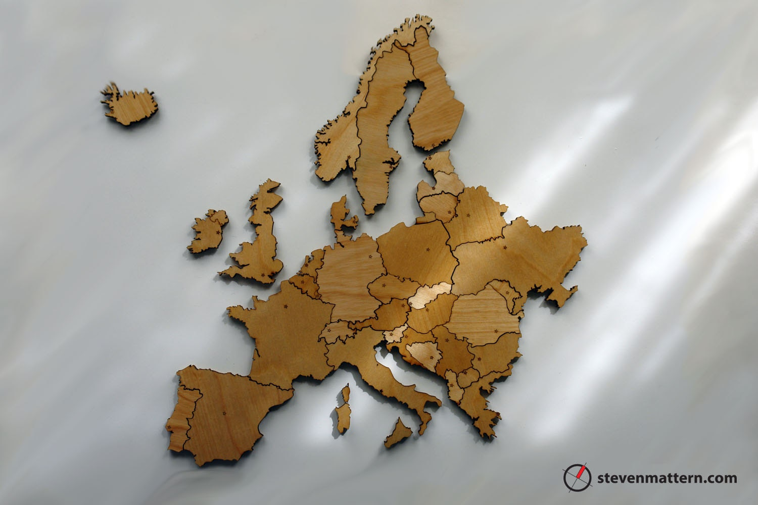 Europe Map Puzzle Birch Plywood