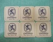 VTG Breweriana Lowenbrau Special Dark Beer Bar German Bar Coasters Ephemera Art Assemblage