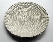 Salmon Skin - Small Cream Colored Textured Dish