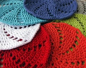 Handmade washcloths, set of two, you choose the colors