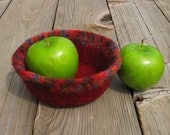 Small Harvest Felted Bowl, Ready to Ship, Handmade by The Land of G on Etsy
