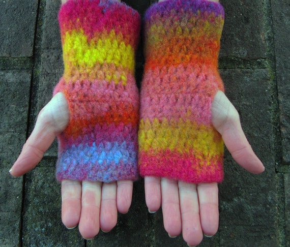 Fingerless Gloves, Handwarmers, Ready for Shipping, Handmade by The Land of G on Etsy