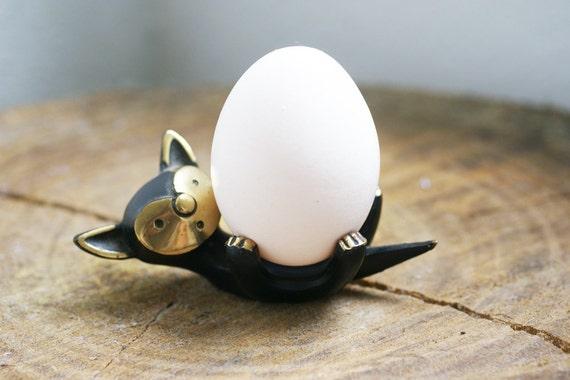 SALE - Modernist Walter Bosse Brass Cat Figurine