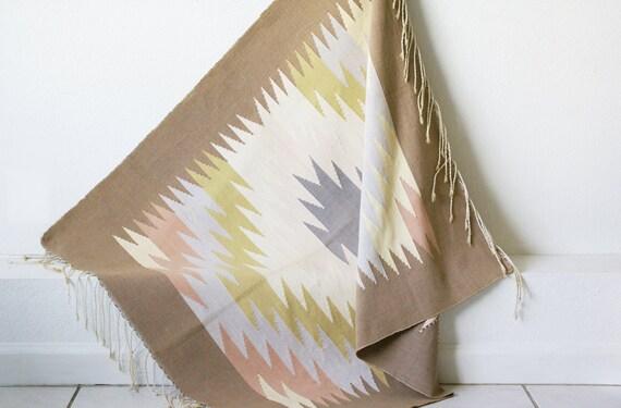 Vintage Handwoven Southwestern Rug Tapestry