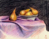 Study of Pears - Colored Pencil still life