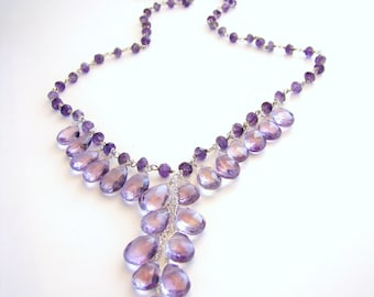 Genuine Amethyst Necklace LILA