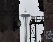 Space Needle from Gasworks Park - 16x20 Mounted Fine Art Print