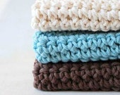 Tranquil Spa Wash Cloths, Plum Perfect Wash Cloths, Wash towels, Crochet, Crocheted, Handmade, Hostess gift, Housewarming gift, Handcrafted