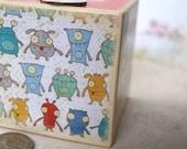 Little Monsters Piggy Bank - Kids Bank, Piggy bank, money bank, coin bank, kids bank, tire lire, wood bank, unique kids décor, Coin Box