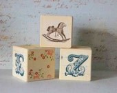 CUSTOM ORDER Personalized Blocks, Letter blocks, Alphabet blocks, Wooden Building Blocks, Fairy Blocks, Wood Cubes, Customizable,  QUINN