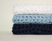 Chambray  Cotton Wash Cloths - Dish Cloths