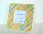 Pastel Plaid Picture Frame