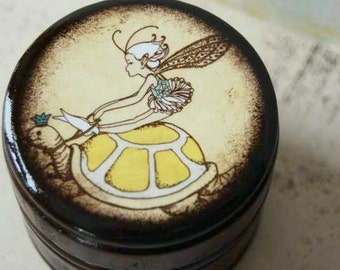A Flying Fairy and Her Tortoise Powder Box