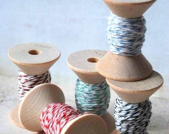 Candy Shop - Vintage Wood spools and Bakers Twine