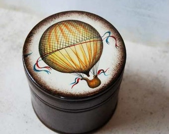 Hot Air Balloon Wood  Box - Take Me Away -