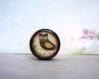 Owl - Folk Art Owl Pill Box - Stocking Stuffers