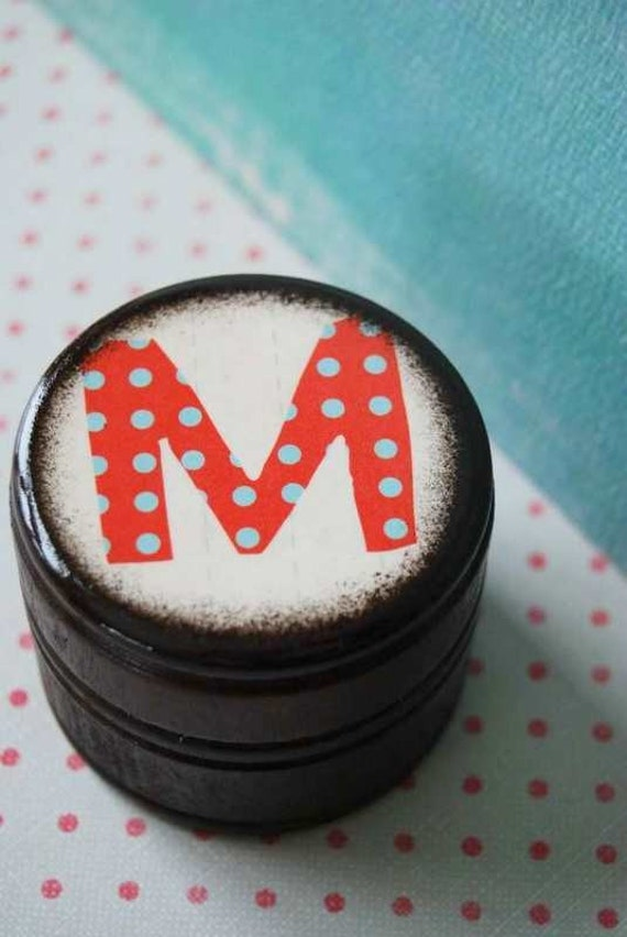 Personalize It  - The Letter M Powder Box