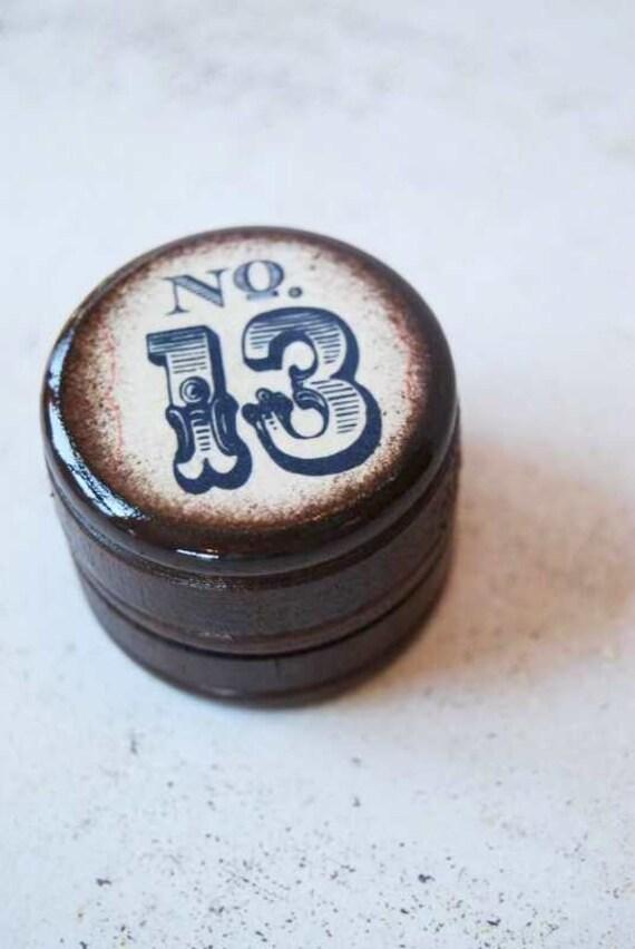 Lucky No. 13  Pill Box - Daily Junque