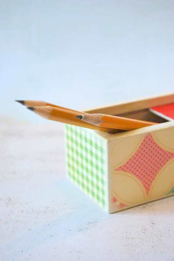Colorful Quilt  Pencil Box