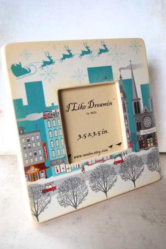 City Streets Picture Frame - Holiday picture frame
