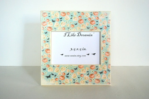 Rose Buds And Butterflies Picture Frame
