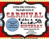 Carnival Digital (printable) Birthday Invitation