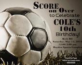 Soccer Digital Birthday Invitation