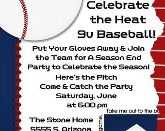 Baseball Digital Birthday Invitation