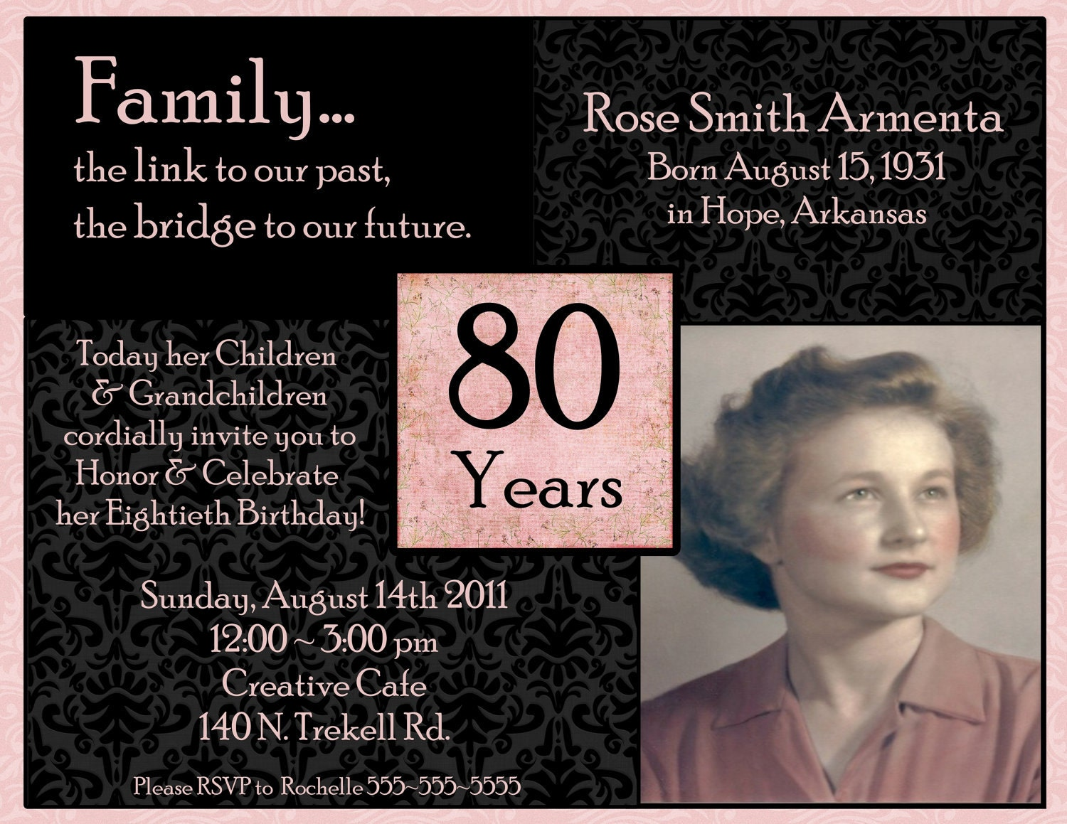 Invitations on Pinterest | Birthday Invitations, 90th ...
