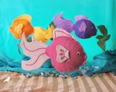 Felt Fish Pattern - Fish Plushie - PDF Felt Pattern and Instructions For Frankie The Fish