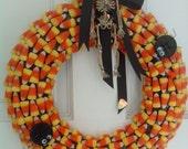 Candy Corn Wreath Decor (sold)