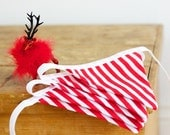 Candy Cane Christmas Beautiful Handmade Good Will Bunting in Small