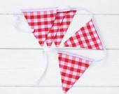 Red Check Bunting Good Will Bunting Pizza Pie LAST ONE
