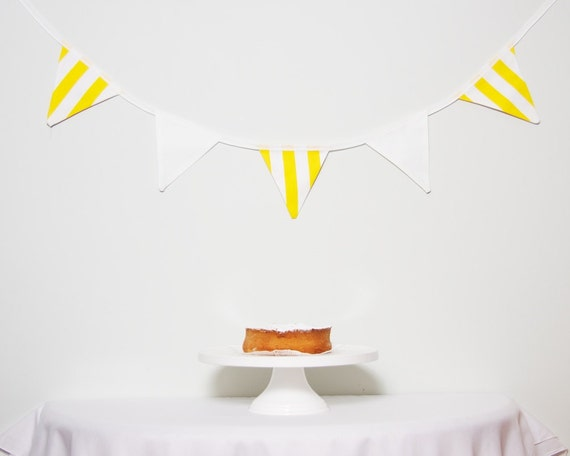 SALE Yellow and White Bunting Good Will Bunting Lemon Coconut