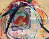 Ariel The Little Mermaid Princess, ornament glass globe ball room decoration MADE TO ORDER
