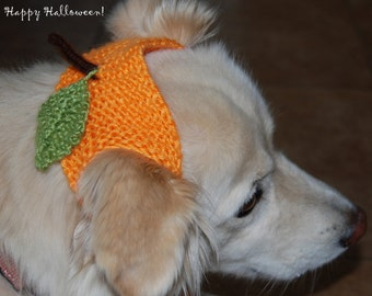 Hand knit animal hat Thanksgivings fall fashion  sale Halloween Dog cat hat headband hat Pumpkin hand knit any size special order.