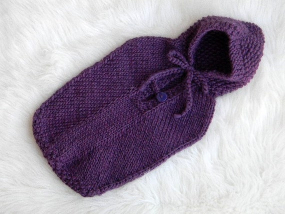 Knit Baby Sleep Sack Cocoon With Hood Newborn To 3 Months