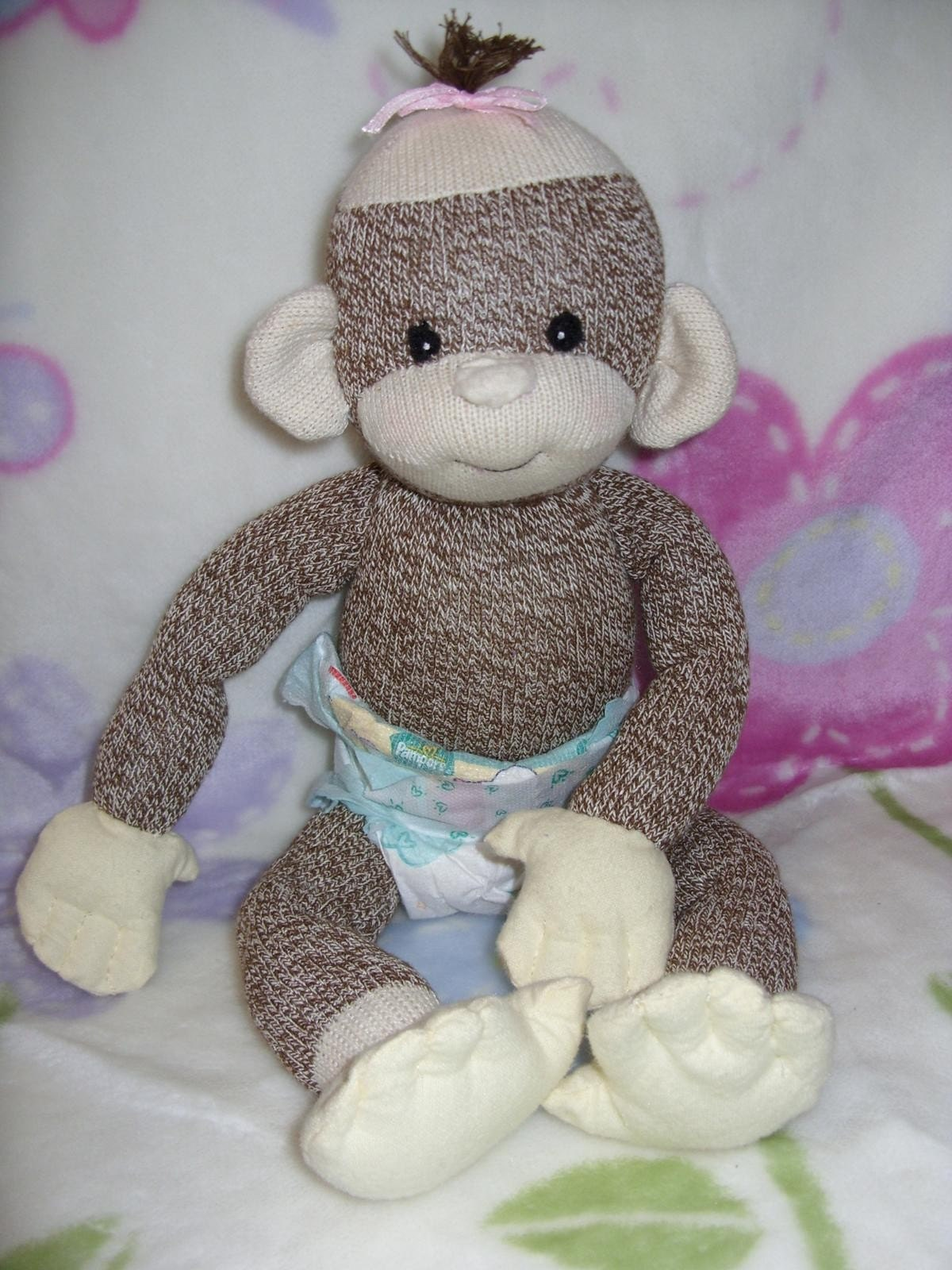 Sock Monkey Baby For Preserving Baby Clothes