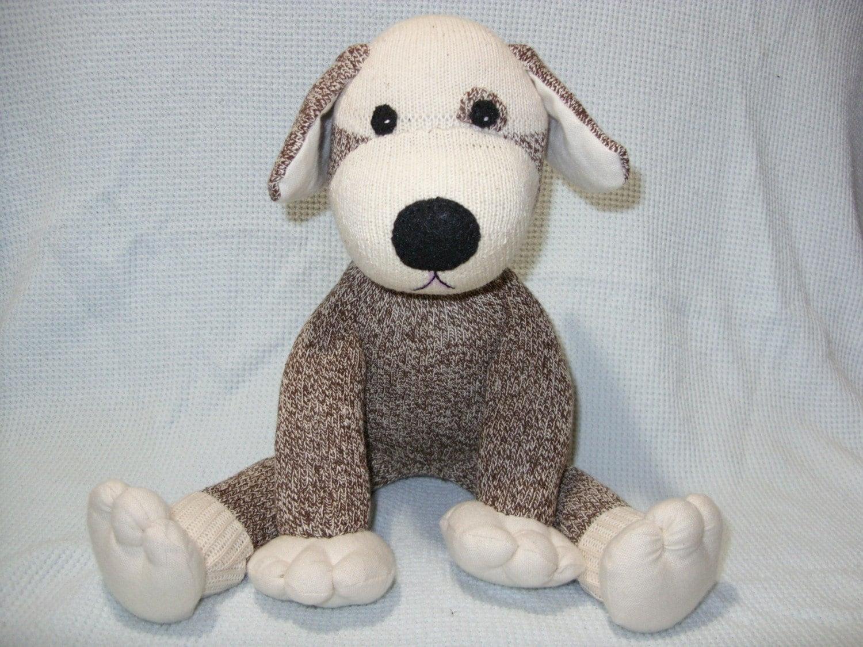 Sock Monkey Puppy Dog Vintage Nelson Red Heel Socks