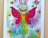 Zizi and Valeria bunny fairies Fine art print